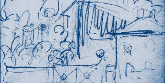 1919 - KirchnerHAUS-Skizze