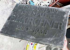 1955 - KirchnerHAUS-Tafel