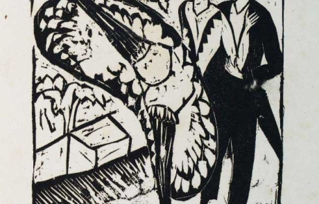 Schleudertanz 33,5 x 30,4 cm 1912, Holzschnitt Privatsammlung Deutschland